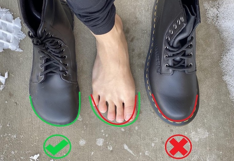 Jaya vs Doc Martens side by side annotated